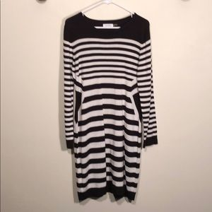 Calvin Klein Long Sleeve Sweater Dress
